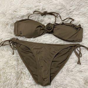 Volcom Brown Taupe Bikini Set